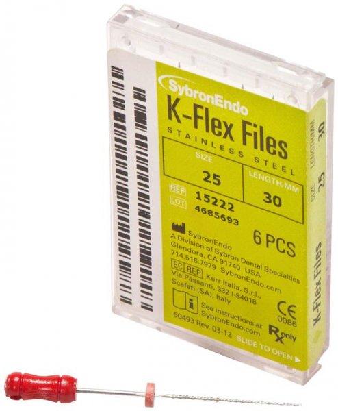 K-Flex Files - Packung 6 Feilen 30 mm ISO 025 von SybronEndo