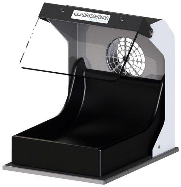 Poliertrog - Stück Poliertrog mit Absaugstutzen Ø 75mm von Wassermann Dental-Maschinen