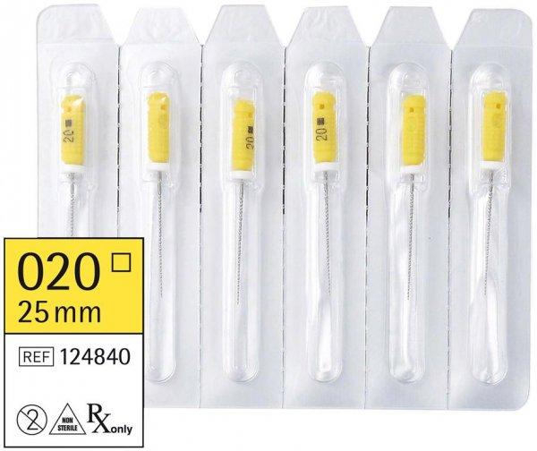 smart K-Feilen - Packung 6 Stück 25 mm ISO 020 von smartdent