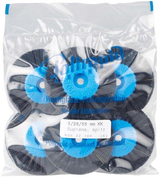 Super Bürste - Packung 6 Bürsten spitz, RSK 32 100 von Polirapid