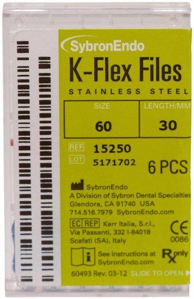 K-Flex Files - Packung 6 Feilen 30 mm ISO 060 von SybronEndo