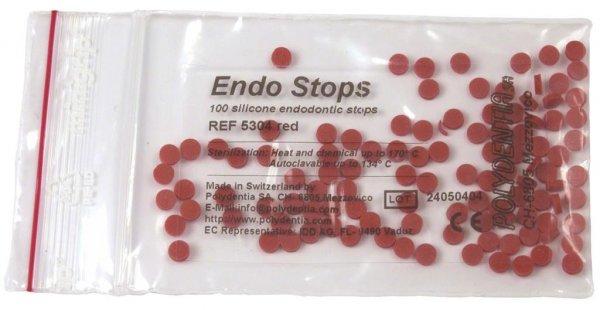 Endo Stops - Packung 100 Stück rot von Polydentia SA