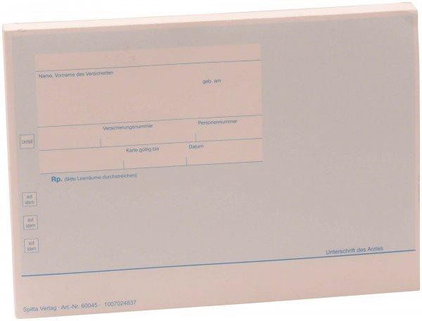Formulare - Block 100 Blatt Chipkarten-Privatrezept weiß, A6 von Spitta Verlag
