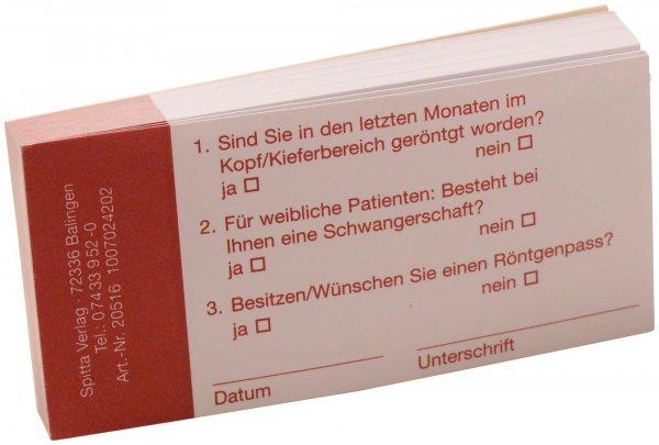 Röntgennachweis - Block 50 Blatt von Spitta Verlag