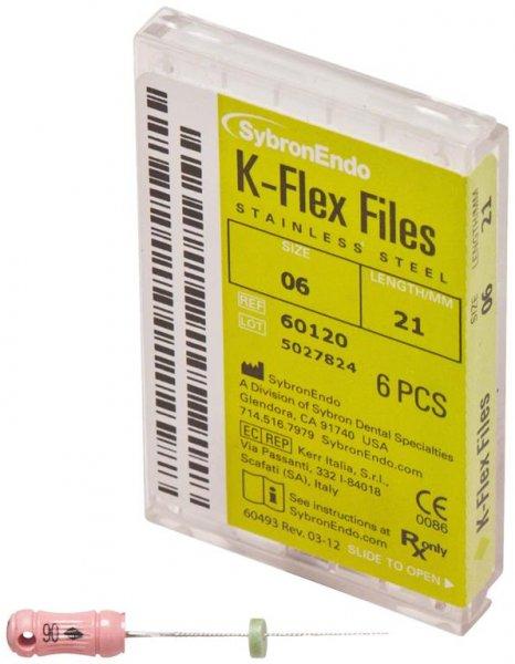 K-Flex Files - Packung 6 Feilen 21 mm ISO 006 von SybronEndo