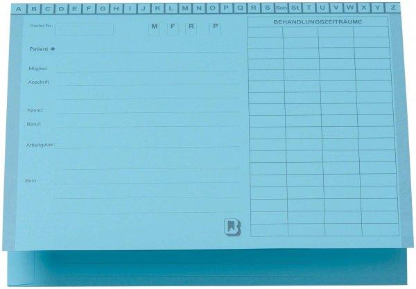 Karteimappe A5/SL - Packung 100 Mappen blau von Beycodent