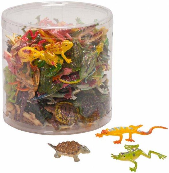 Glitzertiere - Packung 96 Glitzertiere (Frösche, Schildkröten, Salamander) ... von MirusMix