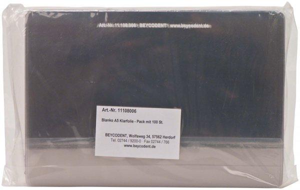 Röntgenfolie Blanko- 8006 - Packung 100 Folien DIN A5 von Beycodent