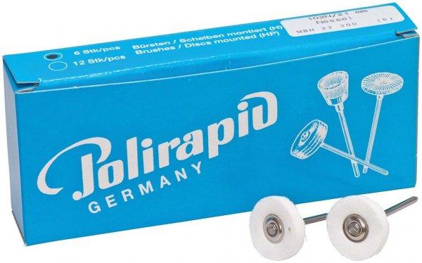 Miniaturbürste - Packung 6 Bürsten, Nessel, Ø 21 mm von Polirapid
