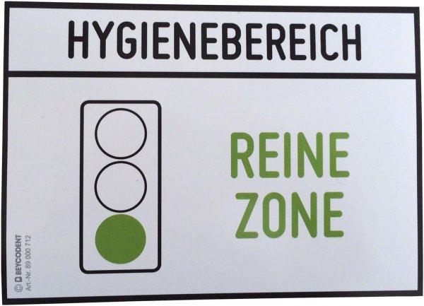 Hinweis-Etiketten - Stück Reine Zone von Beycodent