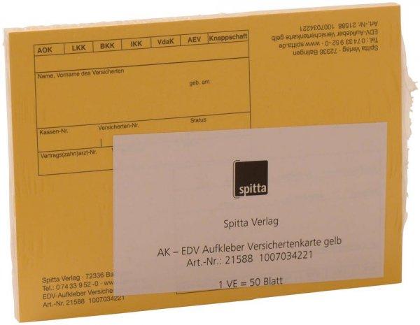 EDV-Aufkleber - Packung 50 Blatt gelb von Spitta Verlag