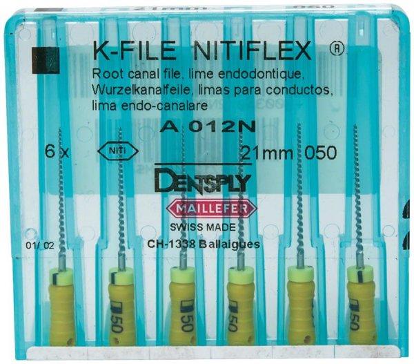 File NiTiflex - Packung 6 Stück 21 mm ISO 050 von Dentsply Sirona