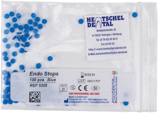 Endo Stops - Packung 100 Stück blau von Hentschel-Dental