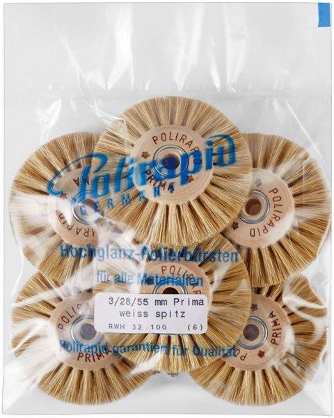 Prima Bürste - Packung 6 Bürsten RWH 32 100 von Polirapid