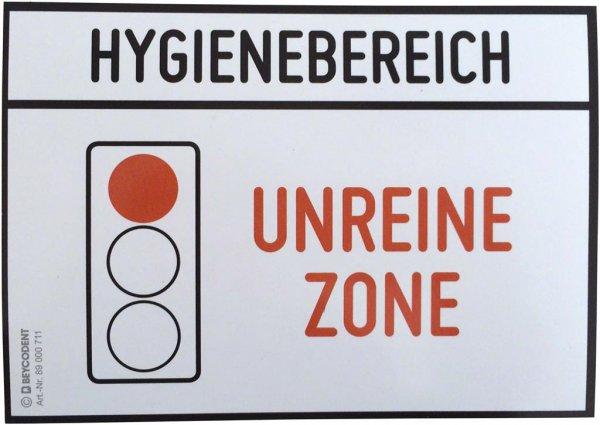 Hinweis-Etiketten - Stück Unreine Zone von Beycodent