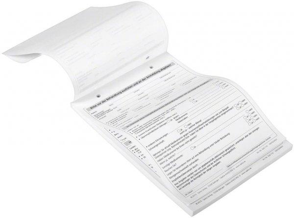Formulare - Block 100 Blatt Anmeldeformular Zahnarztpraxis weiß, A5 von Spitta Verlag