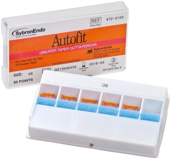 Autofit Guttapercha - Packung 50 Stück Taper.08 von SybronEndo