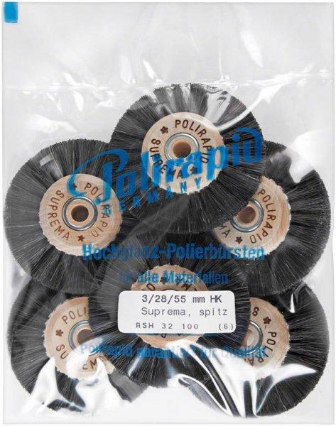 Super Bürste - Packung 6 Bürsten spitz, RSH 32 100 von Polirapid