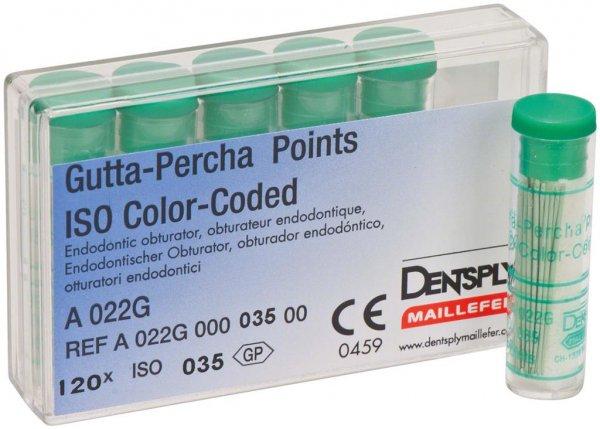 Gutta-Percha Spitzen - Packung 120 Stück Taper.02 ISO 035 von Dentsply Sirona