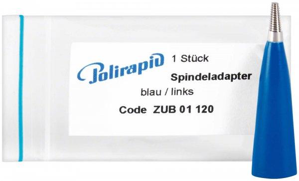 Spindeladapter - Stück Adapter blau, links von Polirapid