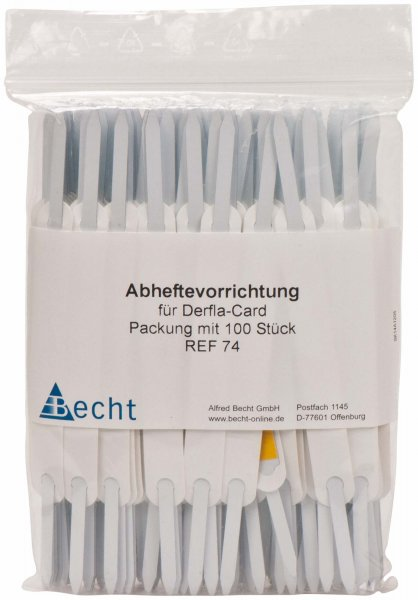 Abheftevorrichtung - Packung 100 Vorrichtungen selbstklebend von Becht
