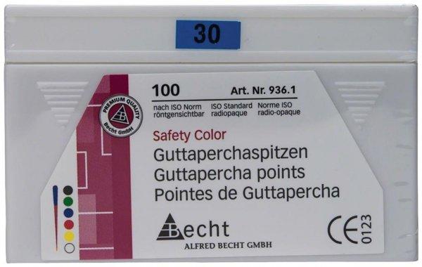 Guttaperchaspitzen Safety Color - Packung 100 Stück ISO 030 von Becht