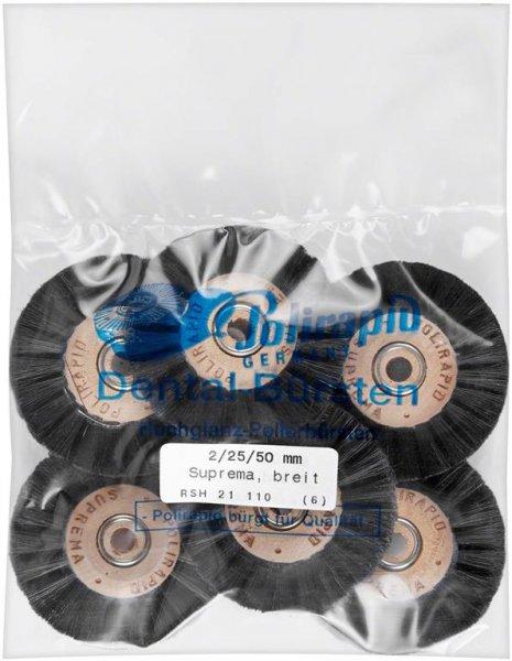 Super Bürste - Packung 6 Bürsten breit, RSH 21 110 von Polirapid