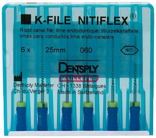 File NiTiflex - Packung 6 Stück 25 mm ISO 060 von Dentsply Sirona