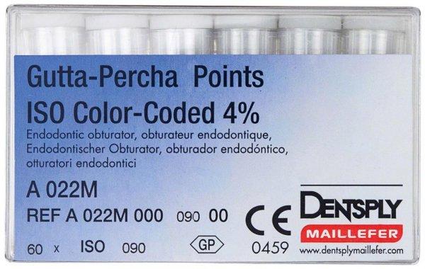 Gutta-Percha Spitzen - Packung 60 Stück Taper.04 ISO 090 von Dentsply Sirona