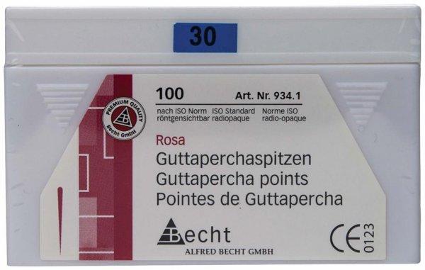 Guttaperchaspitzen rosa - Packung 100 Stück ISO 030 von Becht