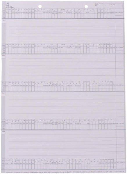 Einlegeblatt KFO-Behandlung - Packung 100 Blatt kopfgelocht von Beycodent