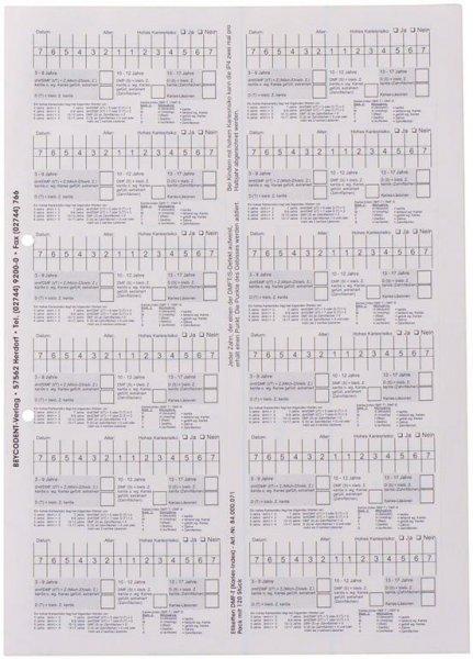 DMF-T-Dokumentation-Etiketten - Packung 120 Etiketten 88,9 x 46,6 mm von Beycodent