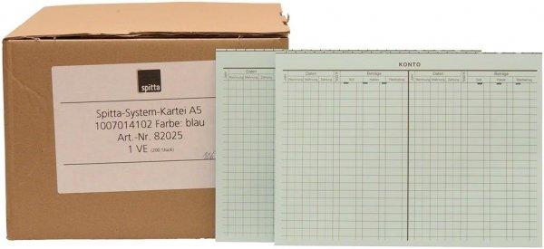 System Karteikarten A5 - Packung 200 Karten blau von Spitta Verlag