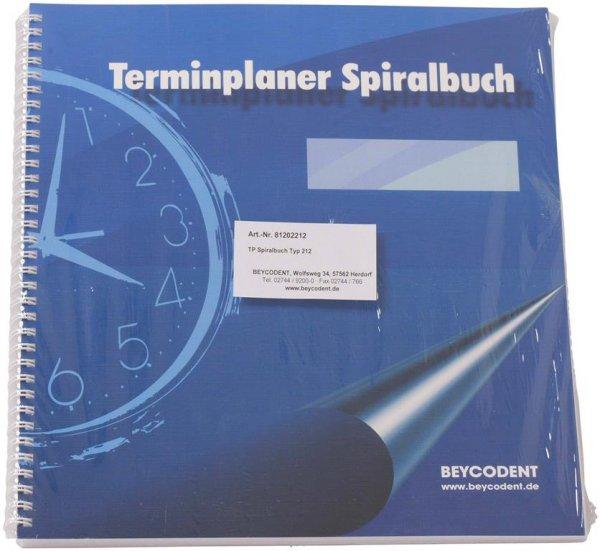 Terminplaner Spiralbuch Classic-Format - Stück mit 53 Blättern Typ 212, 5-Tage-Woche, 2-spaltig, 7-2