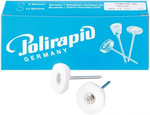 Miniaturbürste - Packung 6 Bürsten, Nessel, Ø 25 mm von Polirapid