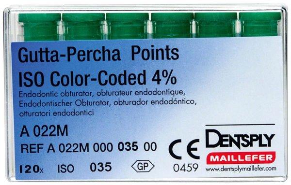 Gutta-Percha Spitzen - Packung 120 Stück Taper.04 ISO 035 von Dentsply Sirona