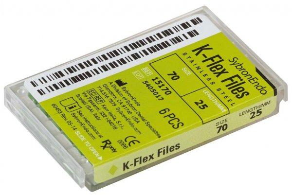 K-Flex Files - Packung 6 Feilen 25 mm ISO 070 von SybronEndo