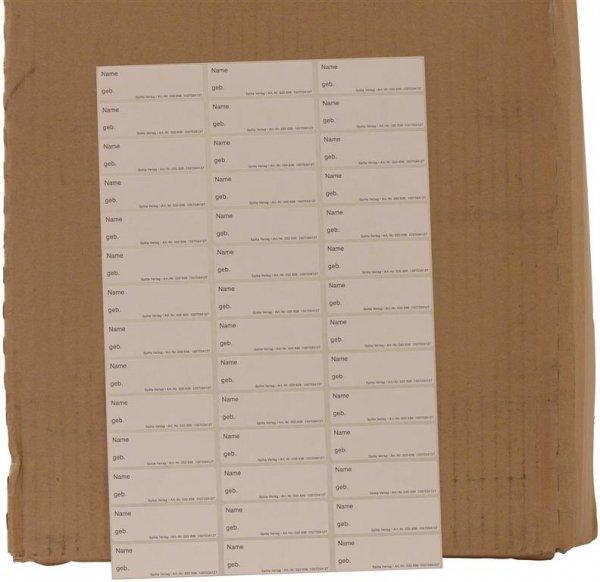Aufkleber Röntgensichthüllen - Packung 42 Aufkleber, 6 x 1,9 cm von Spitta Verlag