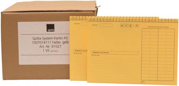 System Karteikarten für Adrema - Karton 200 Karten gelb von Spitta Verlag