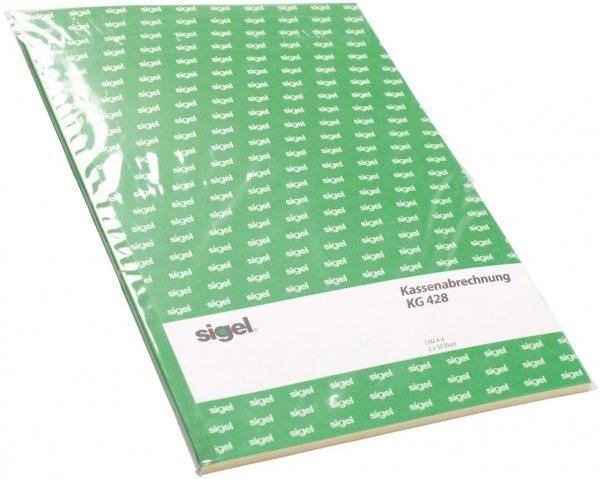 Kassenbuch - Packung 2 x 50 Blatt weiß-gelb von Beycodent