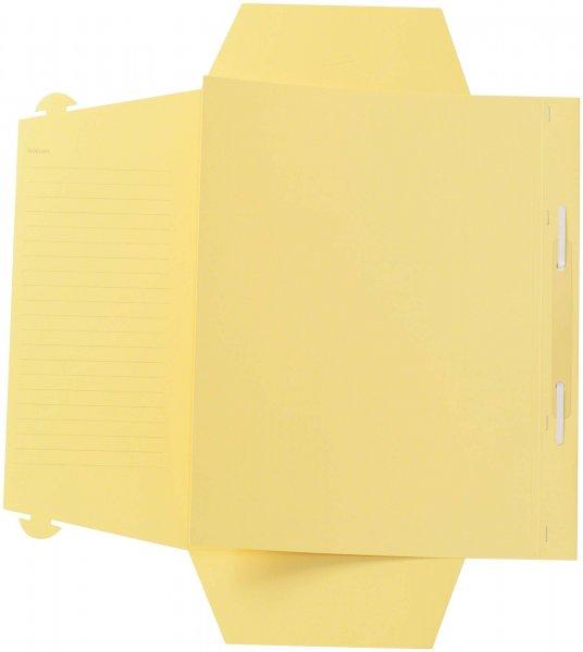 Karteimappe A4 Universal - Packung 100 Mappen gelb von Beycodent