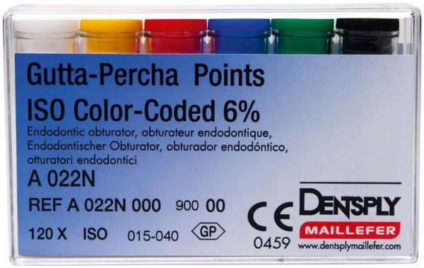Gutta-Percha Spitzen - Sortiment 120 Stück Taper.06 ISO 015-040 von Dentsply Sirona
