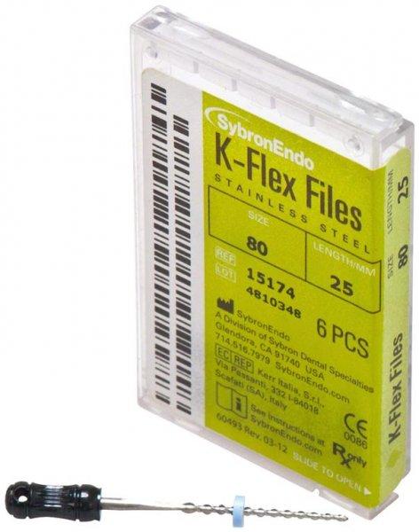 K-Flex Files - Packung 6 Feilen 25 mm ISO 080 von SybronEndo