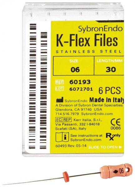 K-Flex Files - Packung 6 Feilen 30 mm ISO 006 von SybronEndo