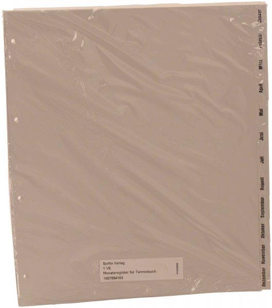 Monatsregister für Terminbuch - Stück von Spitta Verlag