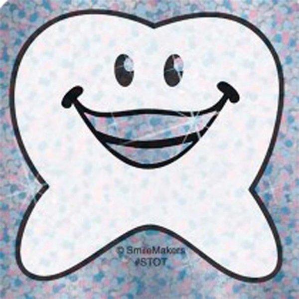 Happy Zahn Glitzer - Packung 150 Aufkleber 6 x 6 cm von MirusMix