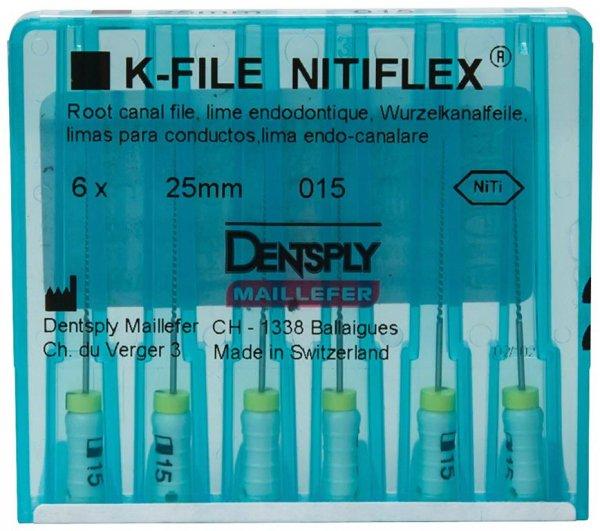File NiTiflex - Packung 6 Stück 25 mm ISO 015 von Dentsply Sirona