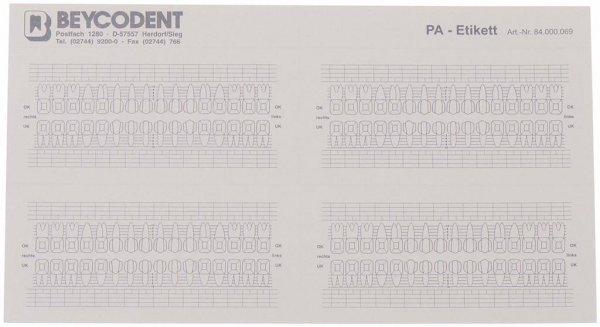PA-Etikett - Packung 200 Etiketten 105 x 50,8 mm von Beycodent