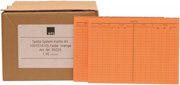 System Karteikarten A5 - Packung 200 Karten orange von Spitta Verlag
