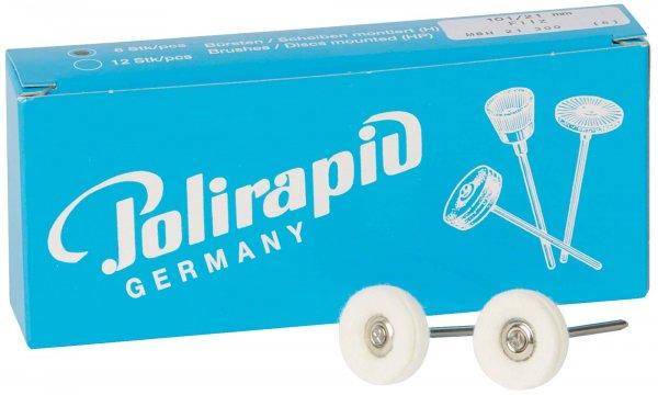 Miniaturbürste - Packung 6 Bürsten, Filz, Ø 21 mm von Polirapid